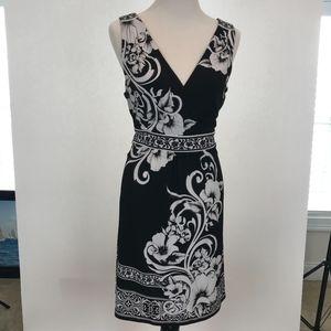 White House Black Market Dress Black White Large